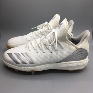 Adidas Boost Icon 4 Metal Cleats White Mens Sz 11